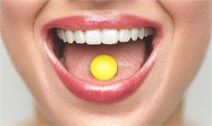 Orally disintegrating tablets get dissolved when in contact with saliva and get in the blood stream through the oral mucosa.