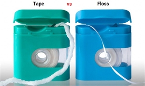 The difference between dental tape and dental floss