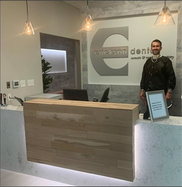 Reception area of Irving dentist Erickson Dental