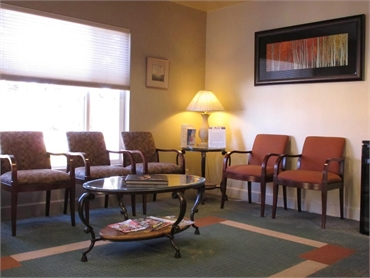 waiting lounge at our cosmetic dentistry in San Bruno CA 94066
