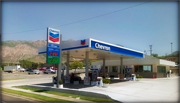 Chevron gas station on 2089 S Harrison Blvd located 0.6 miles to the north of Ogden periodontal care