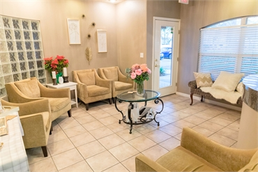 Waiting area at Tampa dentist Carrollwood Smiles