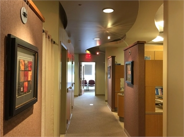 Hallway in our general dentistry office in Lithia Springs GA