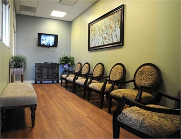 patient lounge at Beautiful Dentistry Salisbury NC