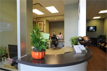 Front desk and accounts office at Beautiful Dentistry