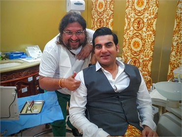 Dr. Sunil Phol with Bollywood actor Arbaaz Khan