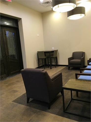 Patient lounge at Dentistry By Design located just 8 miles to the north of Cottonwood Park Richardso