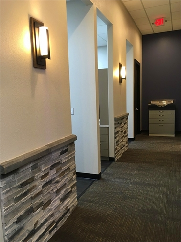 Hallway in our general dentistry located 1.7 miles to the north of Villages at Clear Springs Richard