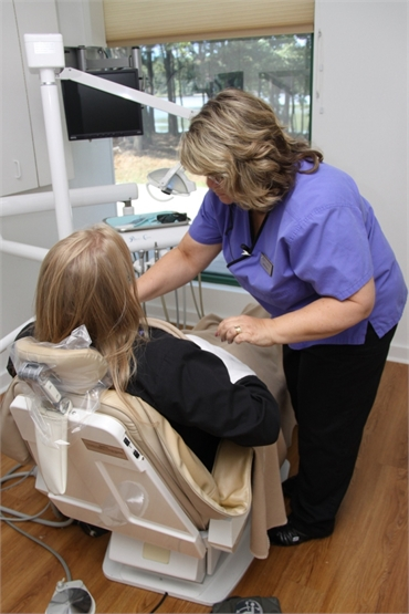Dental Assistant and Patient