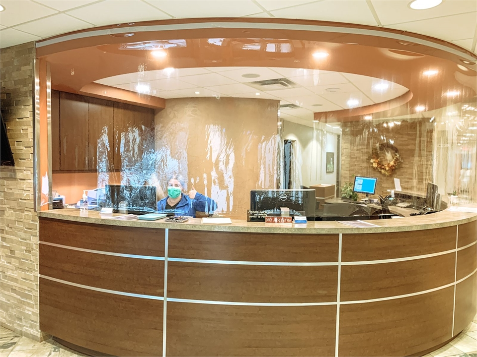 Front desk at Coaldale Dental