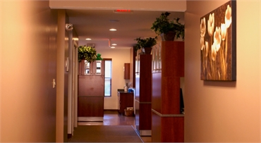 Hallway of Clifton Park dentist Adirondack Dental Group
