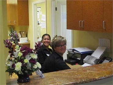 Front desk staff at our general dentistry in Bonita Springs FL