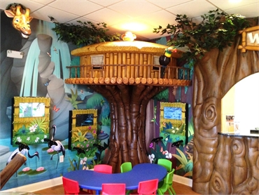 The children play area is the biggest attraction at Treehouse Childrens Dentistry