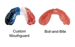 Custom made mouth guard and boil & bite mouth guard