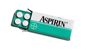 Aspirin is acetylsalicylic acid (ASA), non-steroid anti-inflammatory medication. Aspirin reduces fever, moderate pain and swelling. Aspirin also has blood thinning properties