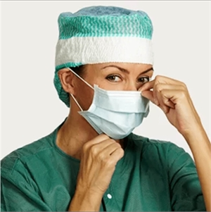 Sanitary face mask. The sanitary mask is effective and protects against bacteria and corona virus only if it covers your mouth and nose