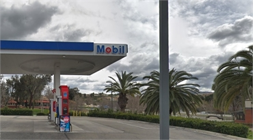 Mobil gas station at 7 minutes drive to the south of Temecula Ridge Dentistry