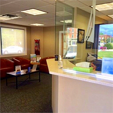 Reception area at West Haven dentist Shoreline Dental Care