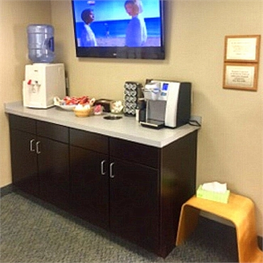 Refreshment bar at Shoreline Dental Care West Haven CT 06516