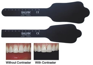 With dental contrasters the pictures of patients' teeth look more professional and allow concentrating on smaller details