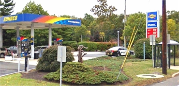 Sunoco Gas Station and US-206 at CHERRY VALLEY ROAD Bus Station located a few paces away from Montgo