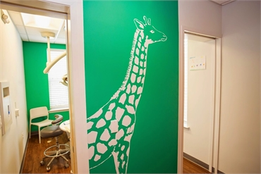 Children will love the animal themed interiors at Montgomery Pediatric Dentistry