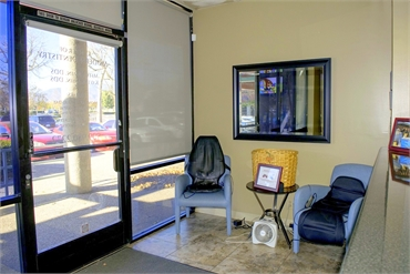 Entrace door and reception area at our general dentistry in Rancho Cucamonga CA 91730