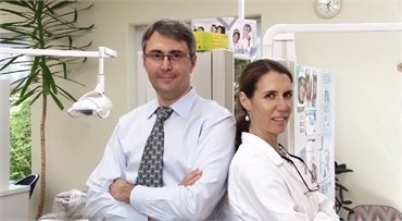 Family dentists Dr. Olga Dontsova DDS and Dr. Victor Khlevnoy DDS at Powell Family Dental Care