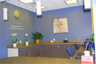 Reception office at Potomac Family Dental