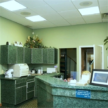 Reception and check out area at Long Valley dentist Cazes Family Dentistry LLC