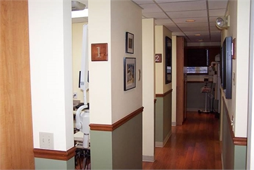 Hallway at dentist Wellington FL  Steven Miller DDS in Wellington FL