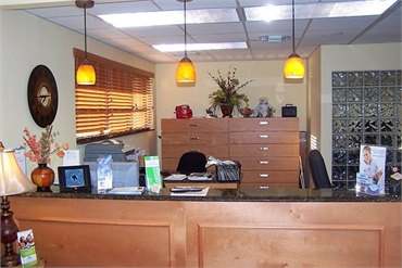 Reception area in the office of dentist in Wellington FL Steven M Miller DDS