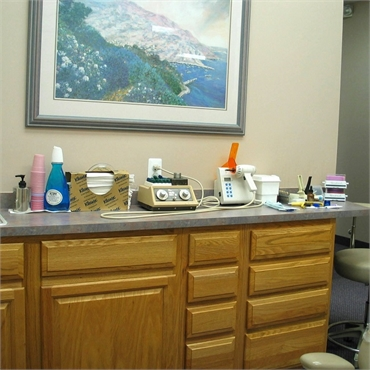 Opertory at the office of Clinton Township periodontal care provider Michael J Aiello DDS