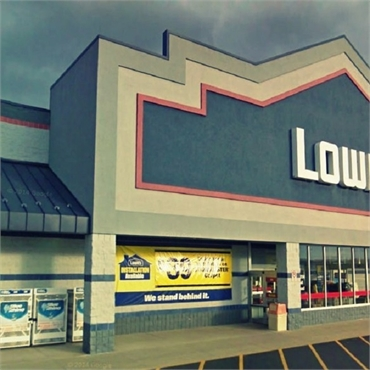 Lowe's Home Improvement store few paces to the north of ClintonTownship cosmetic dentist Michael J A