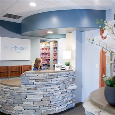 Reception center at Spokane dental implants specialist  Dr. Max Molgard