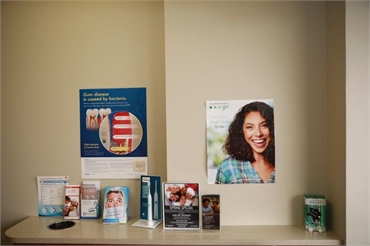 Informative pamphlets at the front desk at Renton dentist Renton Smile Dentistry