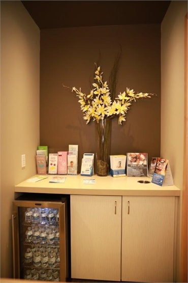 Refreshment area at Renton dentist Renton Smile Dentistry