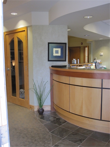 Reception area at Asheville Smiles Cosmetic and Family Dentistry