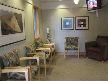Waiting area at Asheville dentist Asheville Smiles Cosmetic and Family Dentistry