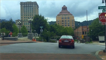 Asheville City Hall and Downtown 5 minutes drive to the south of Asheville Smiles Cosmetic and Famil