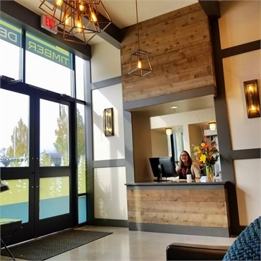 Reception area at Timber Dental Bethany Portland