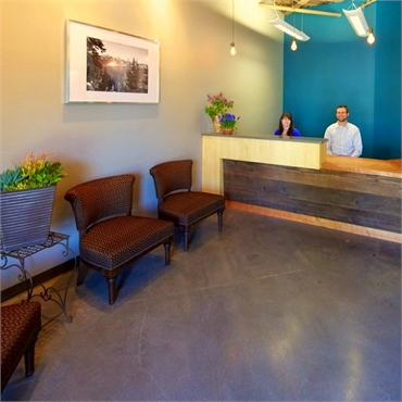 Reception area at Timber Dental