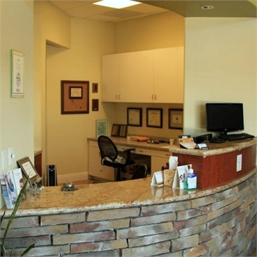 Reception area at Concord dental implant specialist Brighter Day Dental