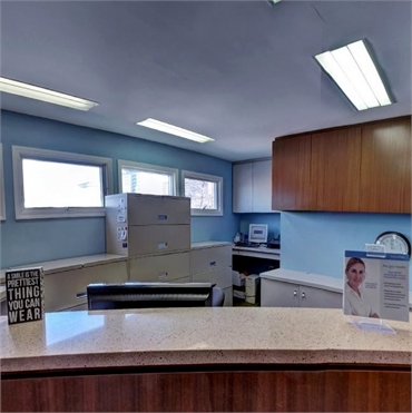 Front office at the office of Englewood's top dental implant specialist Rolando Cibischino DMD
