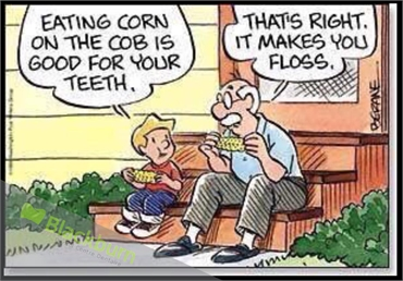 Eating Corn In Good For Teeth.