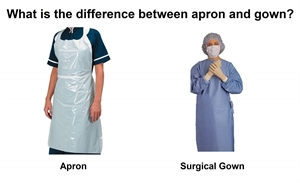 What is the difference between apron and gown?