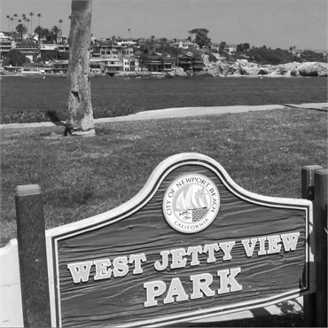 West Jetty View Park 23 minutes drive to the south of Newport Beach dentist John B Chrispens DDS