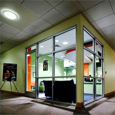 Night view of Smile Shoppe Pediatric Dentistry office in Bentonville AR