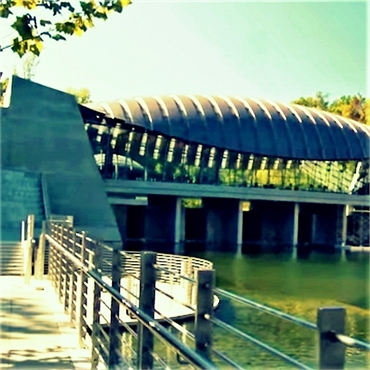 Crystal Bridges Museum of American Art just 3.2 miles to the north of Bentonville childrens dentist