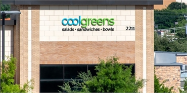 Coolgreens Southlake 2.5 miles to the east of Southlake dentist Huckabee Dental